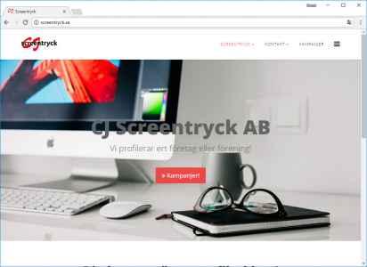 Egen hemsida - Screentryck