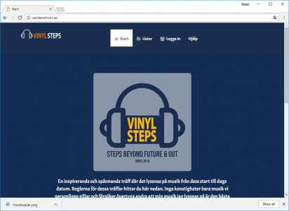 Egen hemsida - Vinyl Steps